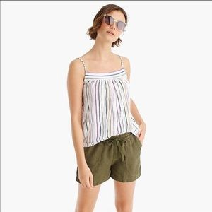 J. Crew Vintage Cotton Smocked-Back Tank Top